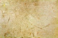 Weinlesepapierbeschaffenheit mit farbigen Stellen und Falten auf der Oberfläche entziehen Sie Hintergrund Lizenzfreie Stockfotos
