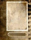 Weinlesepapierfeld - Sepia lizenzfreie abbildung