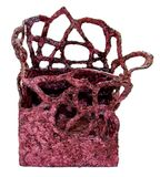 Weinlesepapiermachekorb handgemacht, bedeckt mit Farbe und var lizenzfreie stockfotos