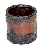 Weinlesepapiermachekorb handgemacht, bedeckt mit Farbe und var lizenzfreies stockfoto
