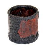 Weinlesepapiermachekorb handgemacht, bedeckt mit Farbe und var lizenzfreie stockbilder