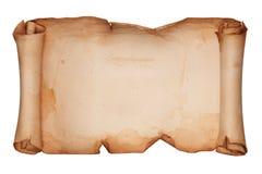 Weinlesepapierrolle lokalisiert auf Weiß Stockbilder