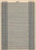 Weinlesepapierseitenblatt mit schwarzer Linie Lizenzfreie Stockfotografie