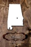 Weinleseplakat für das Staat Alabama Stockbilder