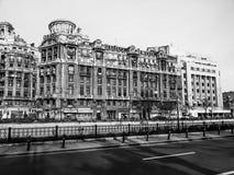 Weinleseplatz in altem Bukarest Lizenzfreies Stockbild