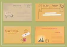 Weinlesepostkarte Lizenzfreies Stockfoto