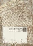 Weinlesepostkarte Stockfotografie