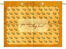 Weinlesepostkarte auf grunge Papier Lizenzfreie Stockbilder