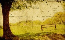 Weinlesepostkarte mit ländlicher Abbildung Lizenzfreies Stockfoto