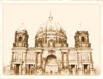 Weinlesepostkarte von Berlin Stockfoto