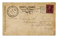 Weinlesepostkartejahr 1905 Lizenzfreie Stockbilder