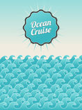 Weinlesepostkarten-Ozeanpanorama Stockbilder