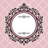 Weinleserahmen auf rosa Muster Stockfotos