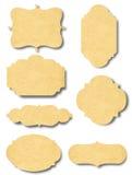 Weinleserahmenausweis und -aufkleber vom alten Papier Stockfotografie
