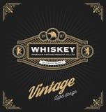 Weinleserahmendesign für Aufkleber, Fahne, Logo Lizenzfreie Stockfotografie