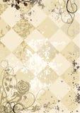 Weinleserosen auf quadriertem grunge Hintergrund Stockbild