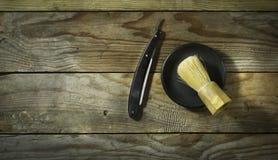 Weinlesesatz des Friseurs Stockfoto