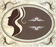 Weinleseschattenbild von girl Lizenzfreies Stockfoto