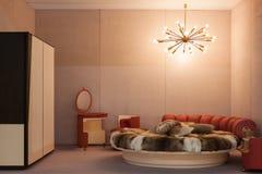 Weinleseschlafzimmer bei Miart 2014 in Mailand, Italien Lizenzfreie Stockfotos
