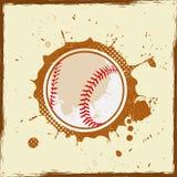 Weinleseschmutzbaseball stock abbildung