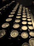 Weinleseschreibmaschine befestigt Nahaufnahme Stockbilder