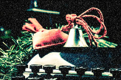 Weinleseschreibmaschine für Weihnachten Lizenzfreie Stockbilder