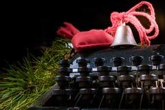 Weinleseschreibmaschine für Weihnachten Lizenzfreies Stockbild