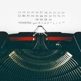 Weinleseschreibmaschine typset Alphabet Stockfotografie