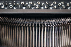 Weinleseschreibmaschinenbuchstaben Stockfotografie