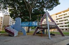 Weinlesespielplatz, Dakota Crescent Singapore Stockbild