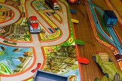 Weinlesespielwaren Spielwaren für Jungen Retro- Spielwaren Stockbild