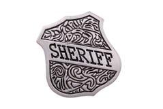 Weinlesespielzeug-Polizeichefabzeichen Stockfoto