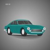 Weinlesesportwagen-Vektorillustration Europäisches klassisches Automobil Lizenzfreies Stockfoto