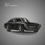 Weinlesesportwagen-Vektorillustration Europäisches klassisches Automobil Lizenzfreie Stockbilder