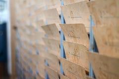 Weinlesestundenzettel Lizenzfreies Stockfoto