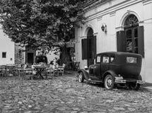 Weinleseszene in Colonia-del Sacramento, Uruguay lizenzfreie stockfotos