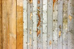 Weinlesetünche malte rustikale alte hölzerne schäbige Plankenwand Texturhintergrund Verblaßte Naturholz-Brett-Gerätelagerung Stockfotos