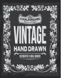 Weinlesetafelblumenvektordesign Hand gezeichnete Abbildung stock abbildung