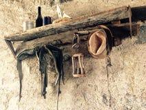 Weinlesetapete im italienischen Landhaus Lizenzfreie Stockfotografie