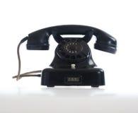 Weinlesetelefon auf Weiß Lizenzfreie Stockfotos