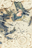 Weinlesetintenstift, Schlüssel, Parfüm, Lavendelblumen und alte Liebe ließen Lizenzfreie Stockfotos