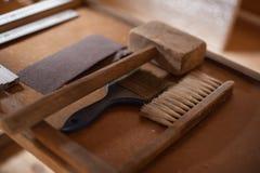 Weinlesetischler ` s Werkzeuge Lizenzfreies Stockfoto