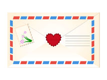Weinleseumschlag mit Briefmarke Lizenzfreie Stockbilder