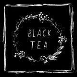 Weinlesevektor des grünen Tees vektor abbildung
