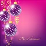 Weinlesevektor Weihnachtskarte Lizenzfreies Stockbild