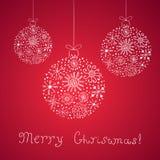 Weinlesevektor Weihnachtskarte Stockfotografie