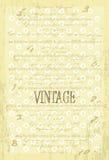 Weinlesevektorhintergrund mit altem Papier Stockfotos