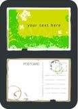 Weinlesevektorpostkarte lizenzfreie abbildung