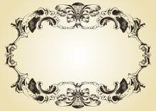 Weinleseverzierung-Gelbhintergrund Stockfotografie