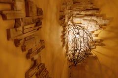 Weinlesewandlampe Stockfoto